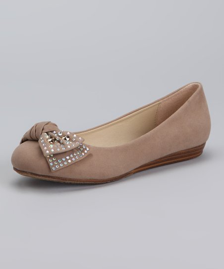 Dotty Shoes Taupe Jerry Ballet Flat