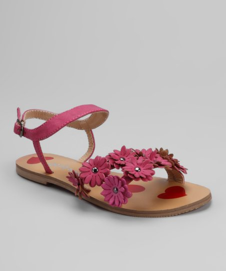 Dotty Shoes Fuchsia Kristin Sandal