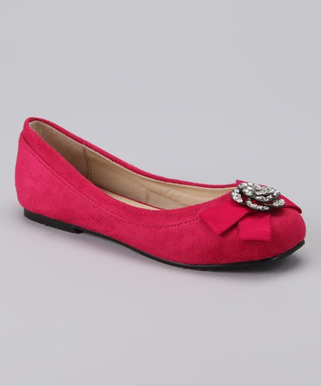 Dotty Shoes Fuchsia Rusky Ballet Flat