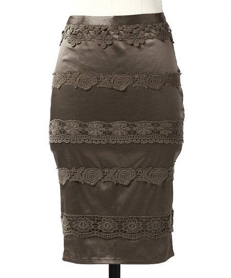 Olive Perfect Lace Skirt