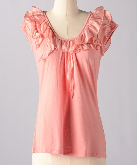 Lobster Bisque Make Believe Silk-Blend Top