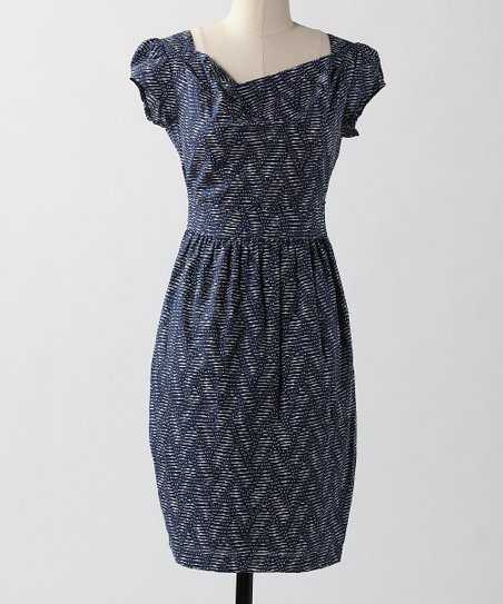 Blue Slats Skip A Beat Dress