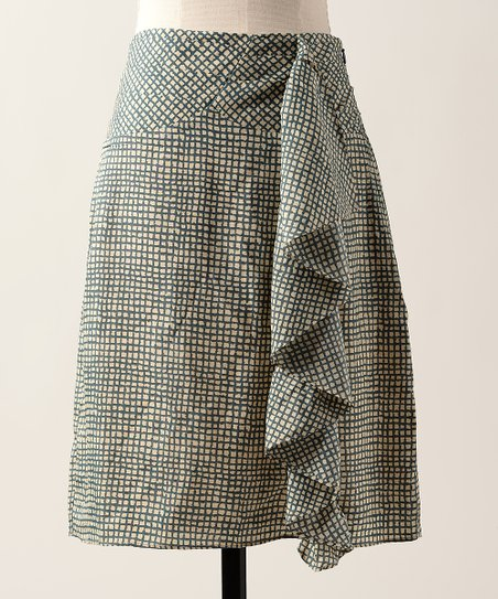 Olive Fine Ruled Skirt