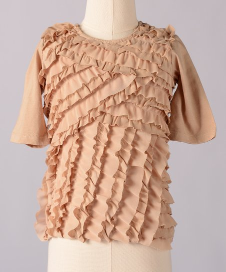 Crème Brulee Clara Top - Toddler & Girls