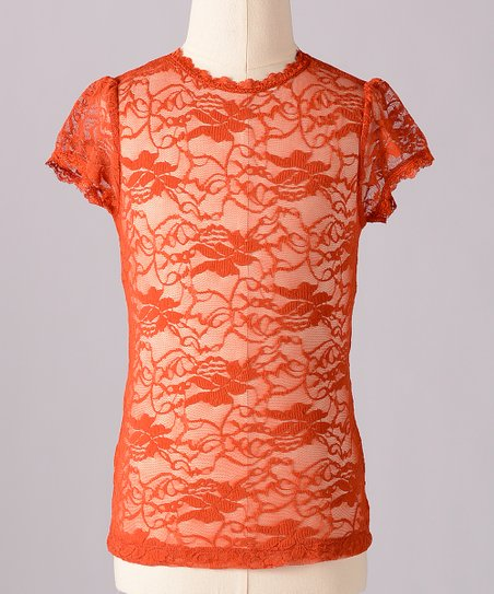 Cinnamon Little Lace Tee - Toddler &amp; Girls