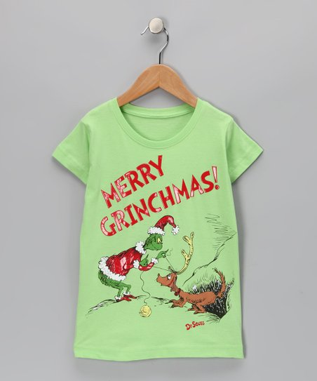 Lime Green &#039;Merry Grinchmas!&#039; Max Tee - Toddler