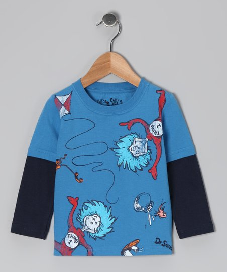 Blue Thing One & Two Layered Tee - Infant