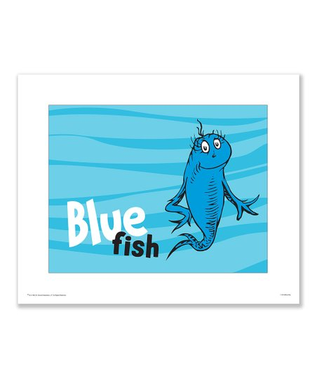 Seuss Prints 'Blue Fish' Print