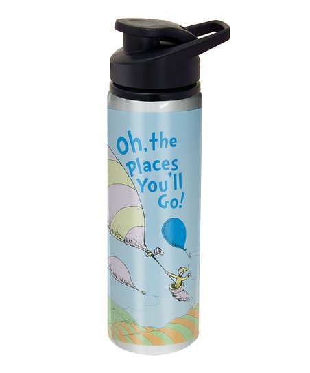 Blue 'Oh, the Places You'll Go!' Water Bottle