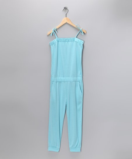 Turquoise Capri Playsuit - Girls