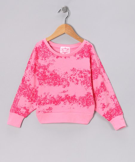 Pink Snake Dolman Crop Top - Girls