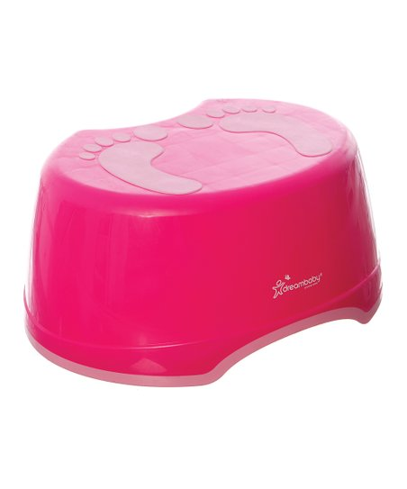 Pink Footprint Step Stool