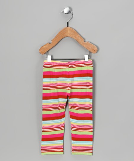 Pink &amp; Cream Stripe Pants - Infant, Toddler &amp; Girls