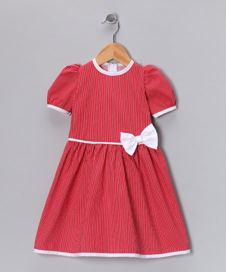 Red Stripe Dress - Infant, Toddler & Girls