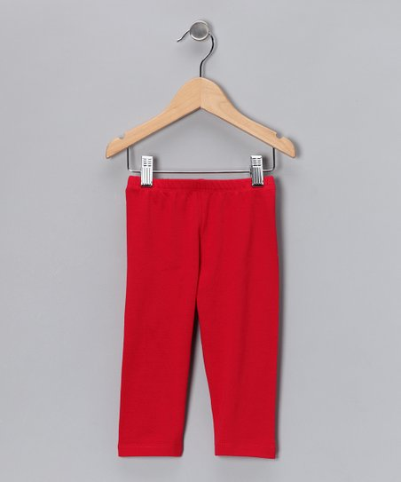 Red Leggings - Infant, Toddler & Kids