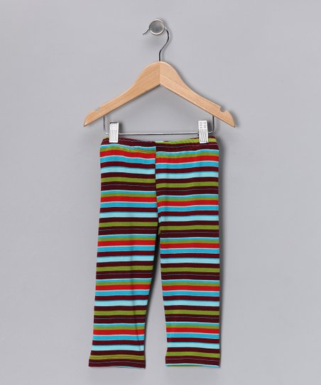 Green Stripe Leggings - Infant, Toddler & Girls