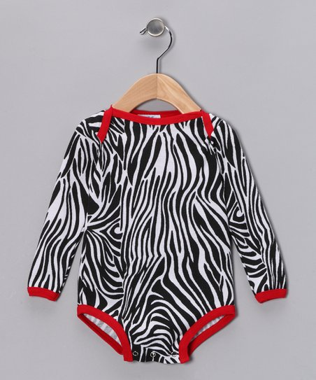 Black Zebra Bodysuit - Infant