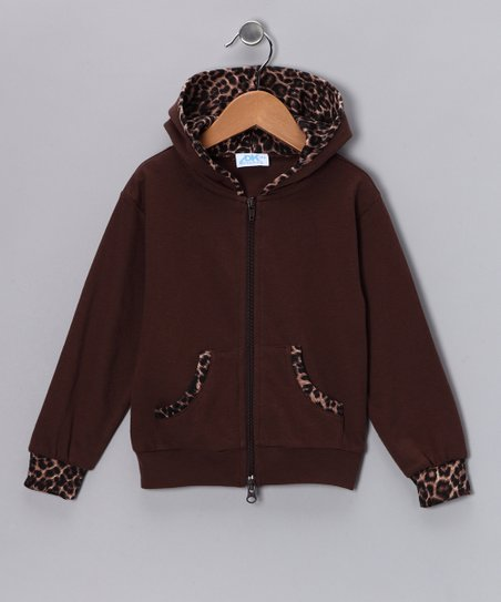 Brown Leopard Zip-Up Hoodie - Infant, Toddler &amp; Girls