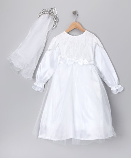 White Elegant Dress-Up Set - Kids
