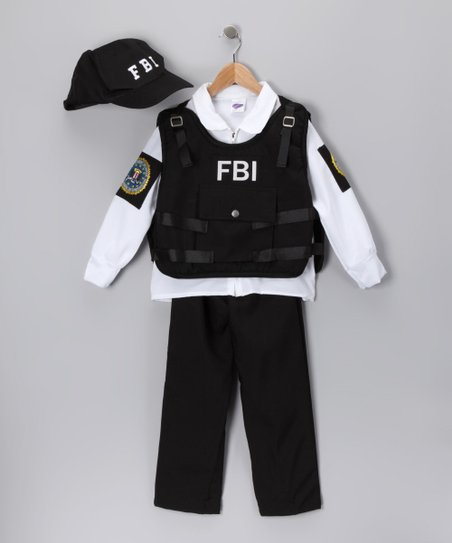 Black FBI Agent Dress-Up Set - Toddler & Kids