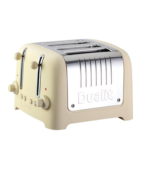 Cream Soft-Touch Four-Slice Chunky Toaster