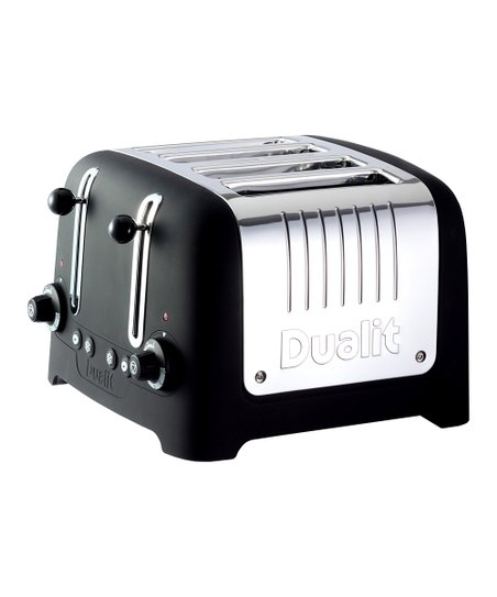 Black Soft Touch 4-Slice Chunky Toaster