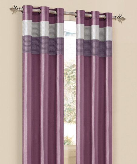 Lavender & Silver Chelsea Curtain Panel