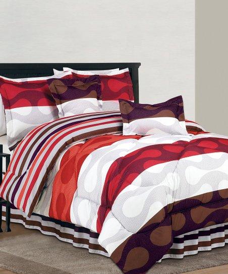 Orange Donelly Reversible Comforter Set
