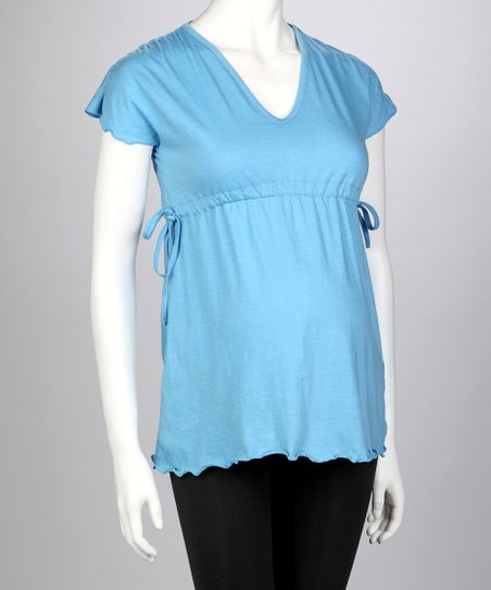 Blue Maternity Top - Women