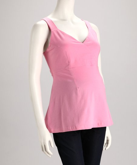 Pink Maternity Tank - Women