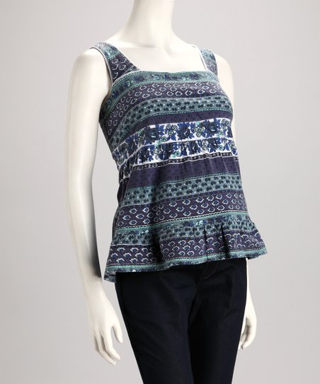 Teal & Green Maternity Tank - Women