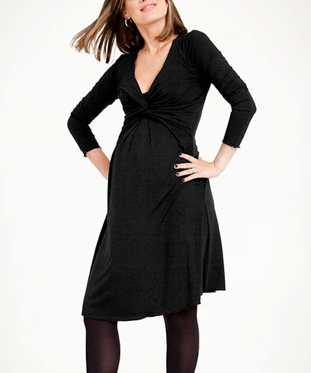 Black Milkbar Maternity & Nursing Dress