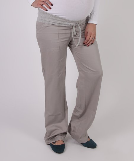 Stone Utility Under-Belly Maternity Pants