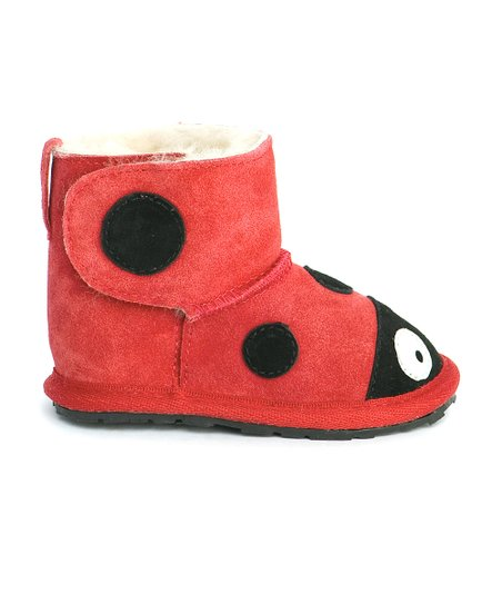 Red Little CreaturesWalker Ladybug Boot – Kids