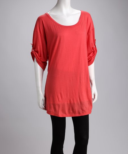 Coral Ningaloo Merino Wool Tunic - Women