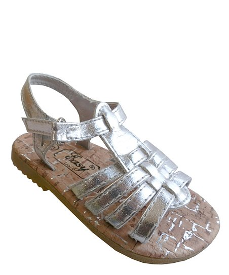Silver Strappy Sandal