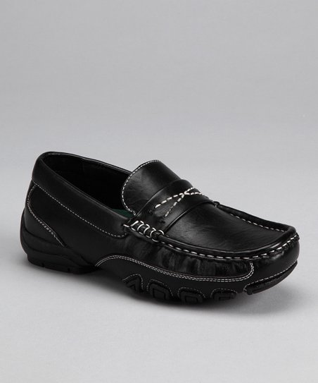 Black & White Stitch Loafer