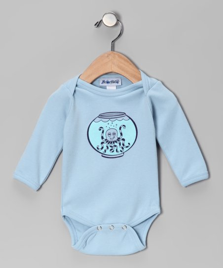 Sky Blue Octopus Bodysuit - Infant