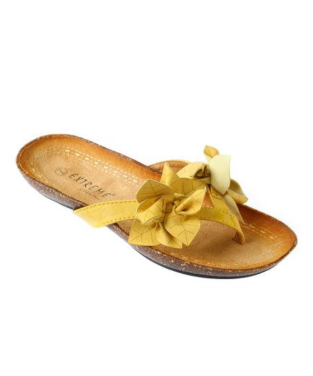 Yellow Callie Sandal