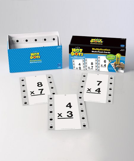 Multiplication Hot Dots Flash Card Set