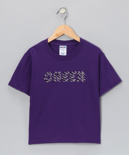 Purple Zebra 'Cheer' Tee - Toddler & Girls