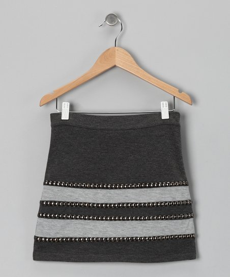 Gray Stud Skirt
