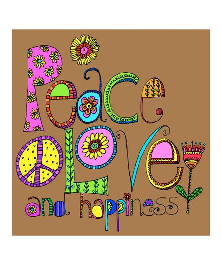 &#039;Peace, Love &amp; Happiness&#039; Print