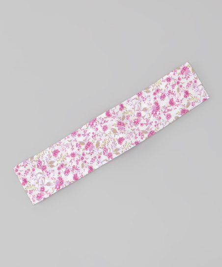 Purple French Floral Soft Headband