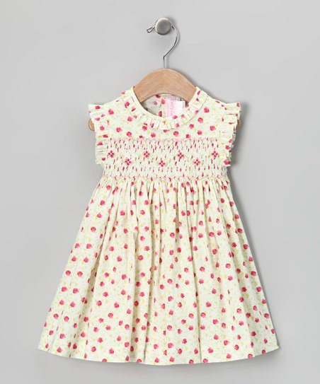 Red Daisy Smocked Dress - Infant & Girls