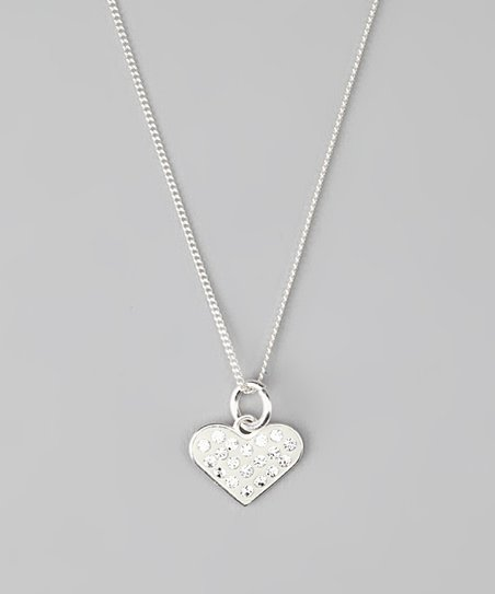 Crystal Pavé Heart Pendant Necklace