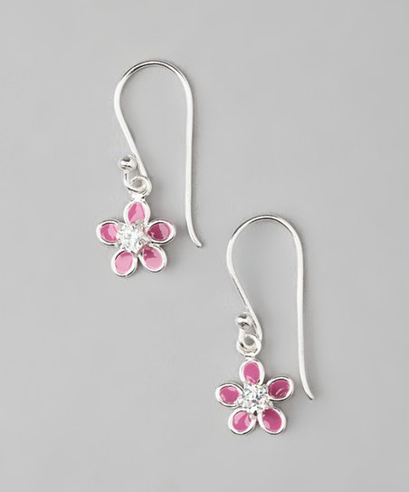 Sterling Silver Flower Earrings