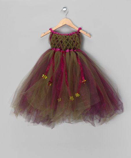 Fuchsia & Green Enchanted Fairy Dress - Toddler