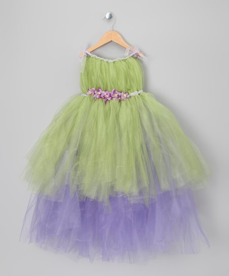Green & Purple Tink Dress - Infant, Toddler & Girls