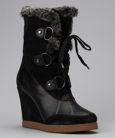 Black Ashton Wedge Boot